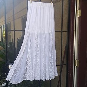 Poetry Nwt gauze and lace skirt